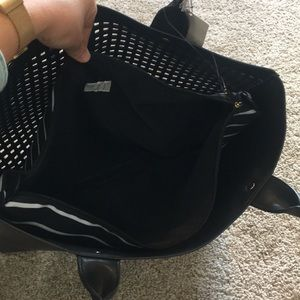 a new day Bags - A NEW DAY black open tote with pocket sleeve